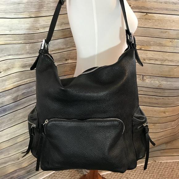 d70c6da522d5 Jacky   Celine Black Leather Bucket Shoulder Bag